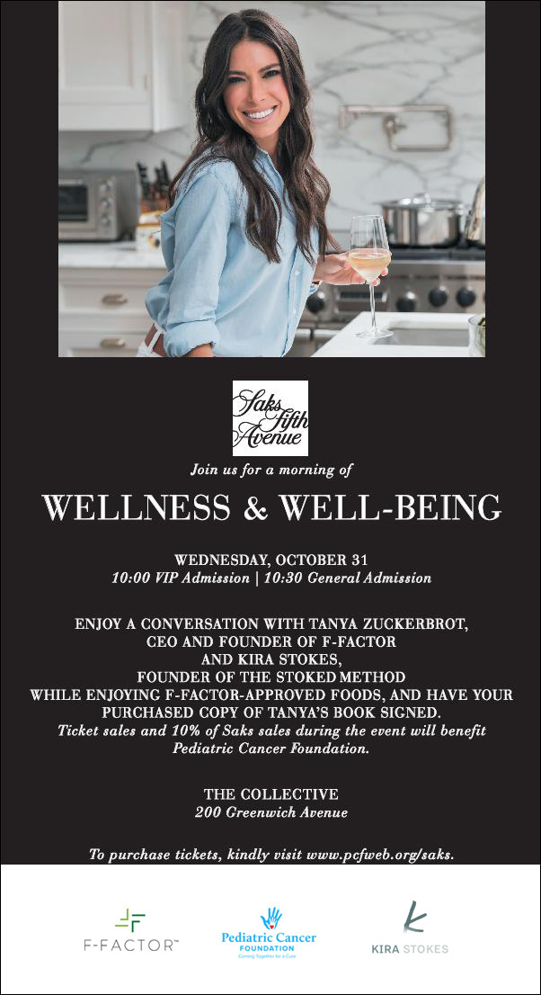 Join Tanya Zuckerbrot, CEO and Founder of F-Factor, for a Morning of Wellness and Well-being